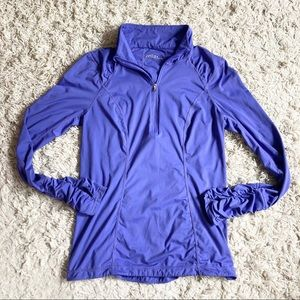 Zella Purple Pullover Jacket Lightweight Size M